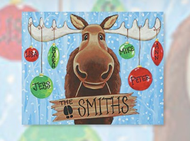Merry Moose Paint Party Rescheduled to December 18
