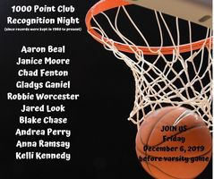 1000 Point Club Recognition