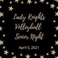 Volleyball Senior Night, April 5, 2021