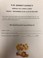 November 22 Fall Family Lunch