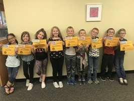 "Third Graders October ""Book-It"" Winners"