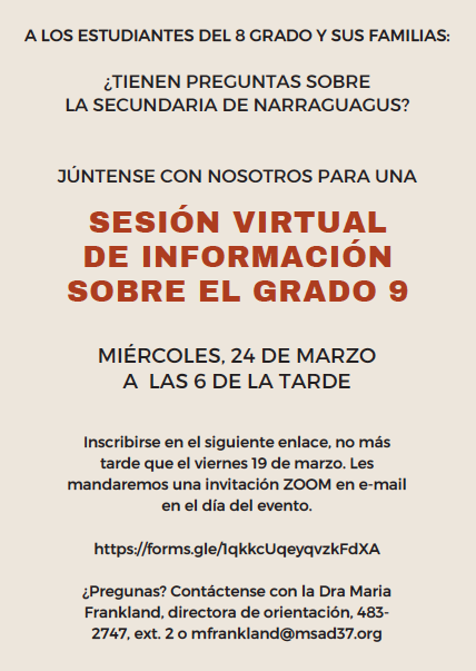 Informational Meeting Flyer - Spanish