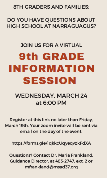 Informational Meeting Flyer - English