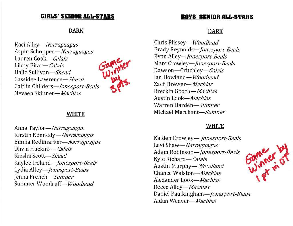 Senior All-star program Pg 2