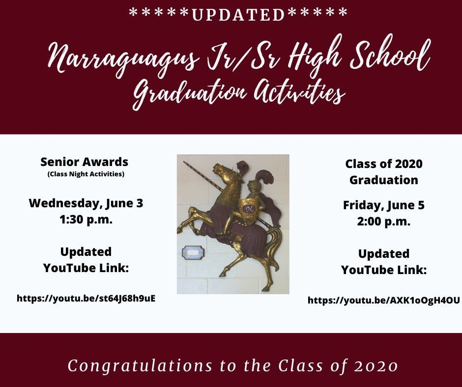 Updated Graduation Activities