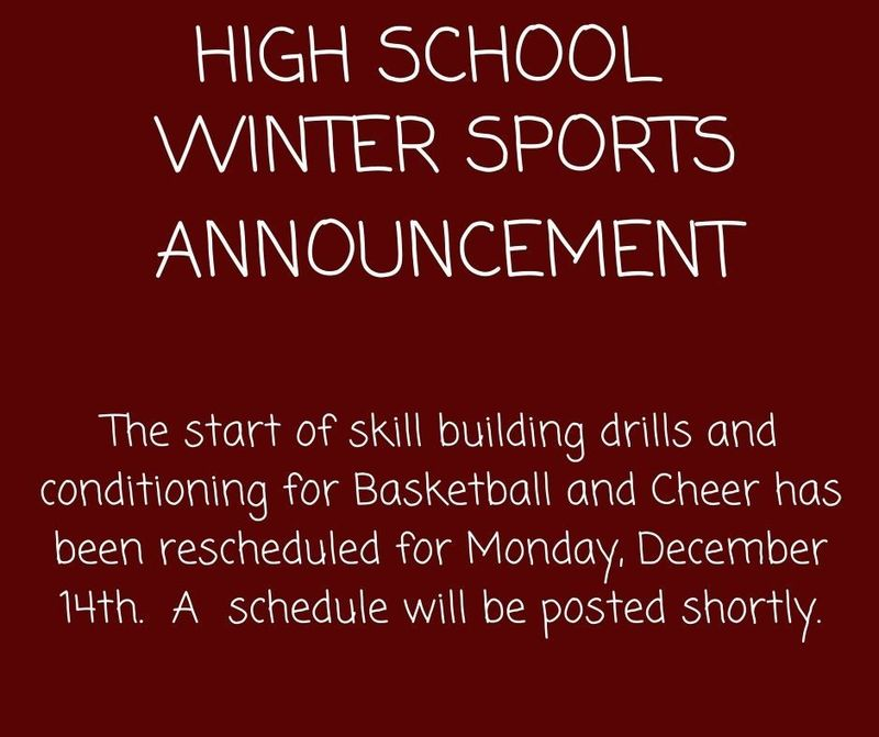 SPORTS ANNOUNCEMENT