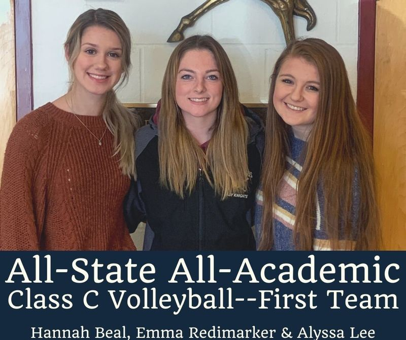 ALL-STATE ALL-ACADEMIC HONORS FOR VOLLEYBALL